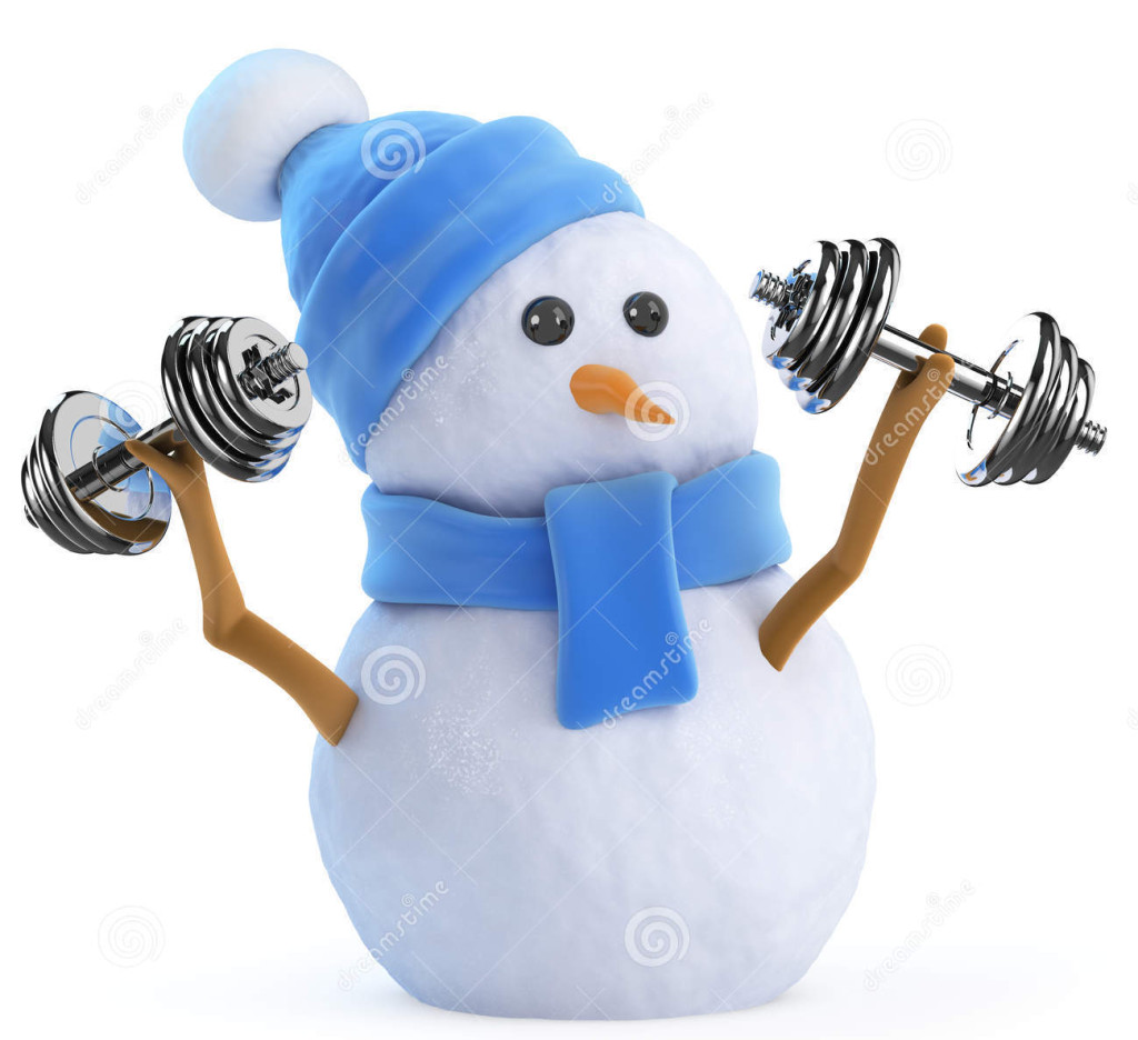 http://www.dreamstime.com/royalty-free-stock-photos-d-snowman-lifting-weights-render-image42752678